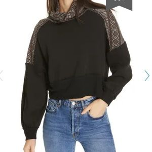 Free People At the Lodge Turtleneck Pullover Crop
